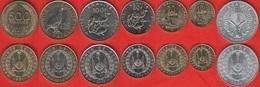 Djibouti Set Of 7 Coins: 5 - 500 Francs 1991-2013 UNC - Dschibuti