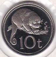 Papua New Guinea 10 Toea 1975 Proof. Copper-Nickel. KM# 4 - Papua New Guinea