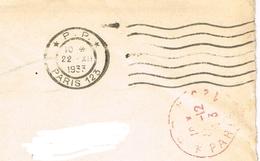 France. Flamme. Port Payé. Paris 123 - Marcophilie (Lettres)