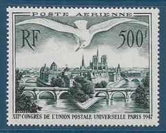 Timbre Neuf* France, N°20 Yt, Poste Aérienne, UPU, Les Ponts De Paris, Notre Dame De Paris, Charnière - 1927-1959 Nuovi