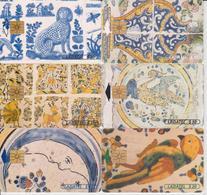 #11 - MEXICO-36 - AZULEJO SET OF 6 CARDS - ART - Mexico