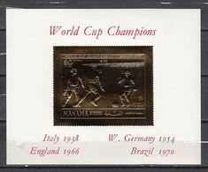 Football / Soccer / Fussball - WM 1970:  Manama  Goldblock **, Imperf. - 1970 – Mexique