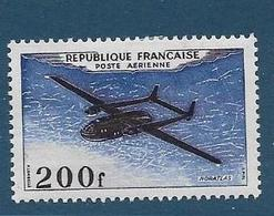 Timbre Neuf* France, N°31 Yt, Poste Aérienne, Avion Noratlas, Charnière - Aéreo
