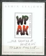 POLAND MNH ** Bloc 130 ANNEE DE L'ARMEE TERRITORIALE DE LA RESISTANCE POLONAISE - Blocks & Sheetlets & Panes