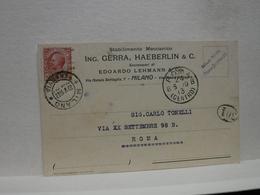 MILANO  -- VIA   NATALE BATTAGLIA  -- ING. GERRA , HAEBERLIN & C. - Milano