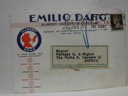 MILANO  -- VIA  CANELLI --PARCO DI LAMBRATE  -- EMILIO DAHO'-- ALIMENTI - Milano