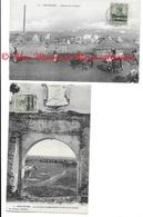 MAROC BER RECHID CASBAH  - 5 PFENNIG SURCHARGE 5 CENTIMOS - LOT DE 2 - CPA MILITAIRE - Other Wars