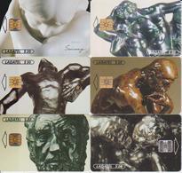 #11 - MEXICO-47 - RODIN SET OF 6 CARDS - ART - STATUE - Mexico
