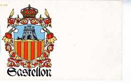 TARJETA ESCUDO HERALDICO CASTELLON    TC 130 - Castellón