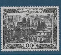 Timbre Neuf* France, N°29 Yt, Poste Aérienne, Vue De Paris, Notre Dame De Paris, Charnière - Aéreo