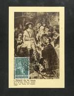 BELGIQUE - BELGIE - Carte MAXIMUM 1959 - BRUXELLES - Emmanuel Van Den Bussche - Charles Quint Reçoit Le Serment De J. B. - Cartoline Maximum