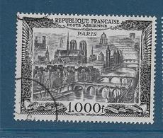 Timbre Oblitéré France, N°29 Yt, Poste Aérienne, Vue De Paris, Notre Dame De Paris, Charnière - Luftpost