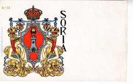 TARJETA ESCUDO HERALDICO SORIA       TC 133 - Soria