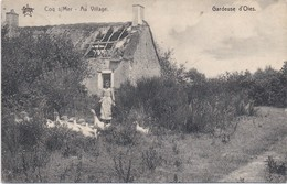 COQ-SUR-MER - 1913 - Au Village - Gardeuse D'Oies - Coq S/Mer - De Haan - De Haan