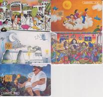 #11 - MEXICO-58 - ARTE ILUSTRATIVO SET OF 5 CARDS - Mexico