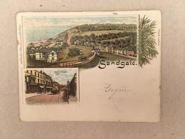 SANDGATE - HIGH STREET - LITHO 1901 - Folkestone