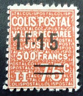 France 1938 Colis Postaux Valeur Déclarée Surchargé Overprinted Yvert 150 (*) MNG - Paketmarken