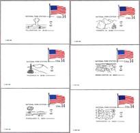PARQUES NACIONALES EE.UU. - NATIONAL PARKS USA. Set 10 Matasellos 1987 - Protección Del Medio Ambiente Y Del Clima