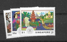 1992 MNH Singapore Mi 665-7  Postfris** - Singapore (1959-...)
