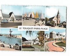 62 Le Touquet Paris Plage Carte 6 Vues Marche Couvert Regates Eglise Piscine Casino  CPSM GF Edit Estel N°17746 Photo - Le Touquet