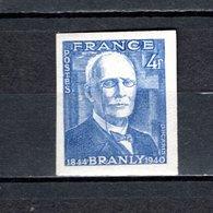 FRANCE  N° 599a  NON DENTELE NEUF SANS CHARNIERE  COTE 23.00€  PHYSICIEN EDOUARD BRANLY - Frankrijk