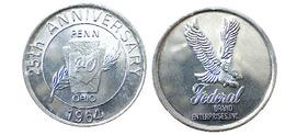 04049 GETTONE TOKEN JETON COMMEMORATIVE PENN OHIO COIN CLUB FEDERAL BRAND ENTERPRISES INC. 1964 ALU - Estados Unidos