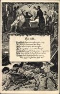 Artiste Cp Hiddekk, Deutsche Soldaten, Erschlagener Riese, I. WK - Militaria
