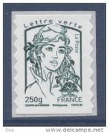 N° 861 Marianne Adhésif Vert-noir Année 2013, Valeur Faciale 250g Lettre Verte - Adhésifs (autocollants)