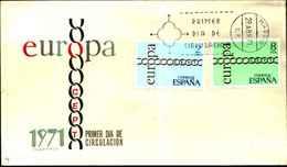 12045a)F.D.C.   Europa- Cept Primer Dia De Circulacion 29-4-71 - 1873 1a Repubblica