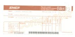 Ticket / Billet De Chemin De Fer - Train - Voyage Limoges Via Vierzon - Paris - 1988 (fr81) - Chemins De Fer