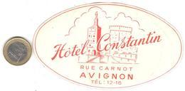 ETIQUETA DE HOTEL  -HOTEL CONSTANTIN  -AVIGNON  -PARIS - Etiquetas De Hotel