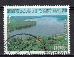 Gabon, Ogooué River, N'Gomo, 1989, VFU Scarce Stamp - Gabon