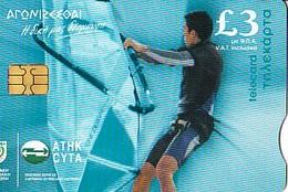 CHYPRE Télécarte Andreas Kariolo  Athlète Of The Cyprus Olympic Team Cyta   20 000ex - Sport