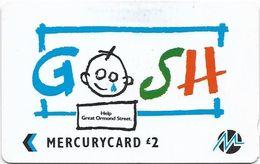 UK (Paytelco) - G.O.S.H. - PYGO002 - 3PGSA - (With Logo On Back), 6.000ex, Used - [ 4] Mercury Communications & Paytelco