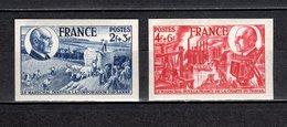 FRANCE  N° 607 + 608   NON DENTELES  NEUFS SANS CHARNIERE  COTE 92.00€  PETAIN - France