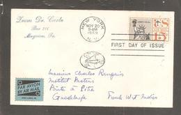 Enveloppe  Oblit NEW YORK 1959  ETAT UNIS  / Statue De La Liberte / - Vereinigte Staaten