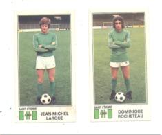 Chromo PANINI (2 Pcs ) Football 77 - Jean-Michel LARQUE Et Dominique ROCHETEAU - Sport, France,...(fr81) - Kaufmanns- Und Zigarettenbilder