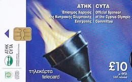 CHYPRE Télécarte Cyta Official Sponsor Of The Cyprus Olympic Commitee  30 000ex. - Advertising