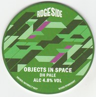 RIDGESIDE BREWING CO  (LEEDS, ENGLAND) - OBJECTS IN SPACE DH PALE - KEG CLIP FRONT - Uithangborden