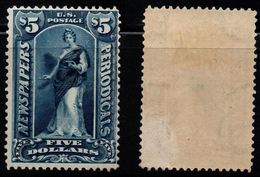 Q915. USA - 1895. SC#: PR109. MH - $5  -  PERIODICAL - NEWSPAPERS STAMP .  SCV:$ 1750.00 ++ - Newspaper & Periodical