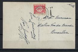 N°TX40 GESTEMPELD OP KAART VANUIT Lommel 1939 COB € +10,00 - Covers