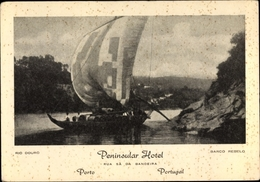 Cp Porto Portugal, Rio Douro, Barco Rebelo, Peninsular Hotel, Rua Sá Da Bandeira - Autres