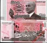 10 Pieces Cambodia 500 Riel  2015 UNC - Cambodia