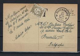 N°TX44 GESTEMPELD OP KAART Oudenaarde 1945 COB € +9,00 - Covers