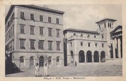 POLA-CROAZIA-R.R POSTE E MUNICIPIO-CARTOLINA  VIAGGIATA IL 11-3-1934 - Croatie