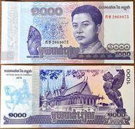 10 Pieces Cambodia 1000 Riel 2017 UNC - Cambodia