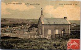 14 PORT EN BESSIN HUPPAIN - La Vierge Et Le Phare - Port-en-Bessin-Huppain