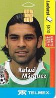 MEXIQUE  Télécarte Raphael Marquez    Footballeur     Ladatel Telmex     Puce Alcatel - Sport