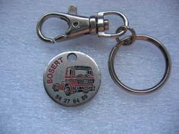 Poret Jeton Des Ets Bosert à Menoncourt,Travaux Publics Et Transport Routier (Dépt 90). Tracteur Routier Mercedes Benz - Jetons De Caddies