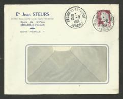 35 - HERAULT / BEDARIEUX ENTREPOT / Enveloppe Commerciale / Marianne De Decaris 1961 - Postmark Collection (Covers)